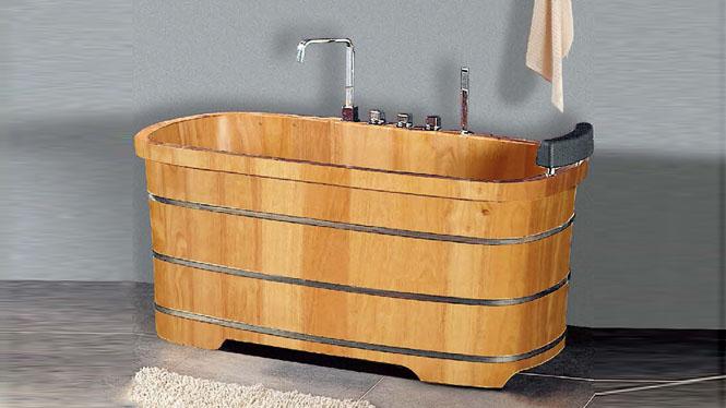 头枕浴缸 洗澡浴盆 木质家用沐浴桶 成人泡澡洗浴木桶 桑拿浴缸054A