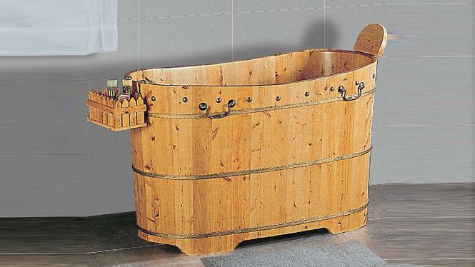 洗澡浴缸 橡木洗浴桶 成人保健理疗泡澡盆 家用沐浴澡盆006C