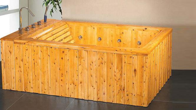 橡木浴盆 高端成人沐浴缸 家用养生洗浴木桶 超大号美容理疗浴桶065A
