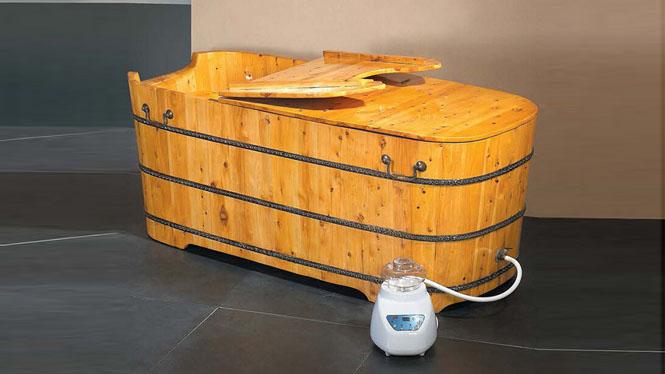 熏蒸沐浴缸 成人桑拿泡澡盆 木质养生洗澡桶 家用洗浴理疗木桶062A