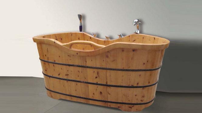 沐浴桶 天然环保洗浴盆 木质家用泡澡沐浴缸 成人保健养生洗澡桶032A