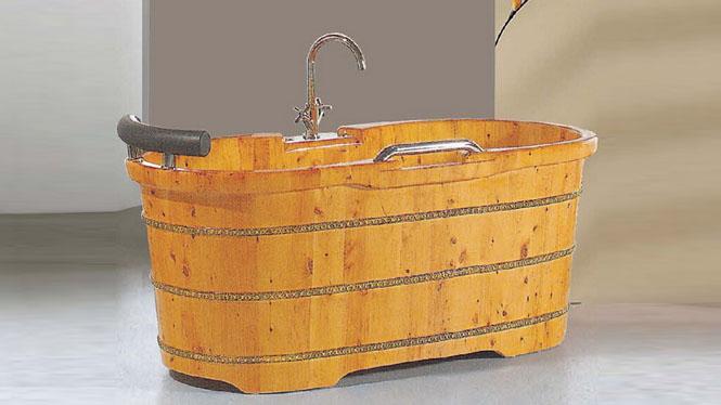 木质浴盆 成人沐浴桶 家用桑拿沐浴缸 木质养生洗浴泡澡盆045A